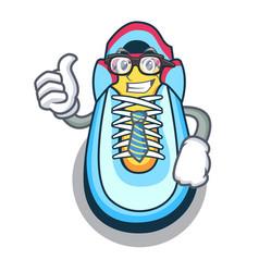 businessman cartoon pair of casual sneakers vector image