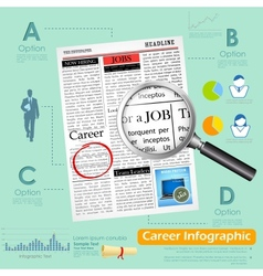 Career infographics vector
