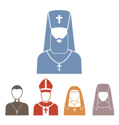 christianity religion people pastor vector image