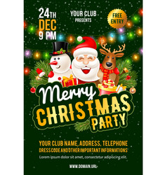 christmas party announcement template vector image
