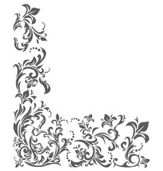 classic border ornament with floral elements vector image