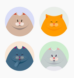 Collection of cute cats vector