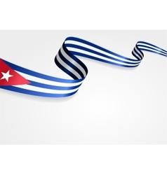Cuban flag background vector