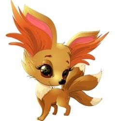 Cute fox pokemon vector