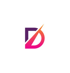 d initial business company logo vector image