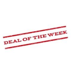 Deal Of The Week Watermark Stamp vector image