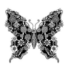 Decorative ornate butterfly vector