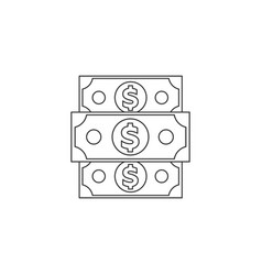 denomination of the dollar vector image