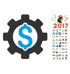 Development Cost Icon With 2017 Year Bonus vector