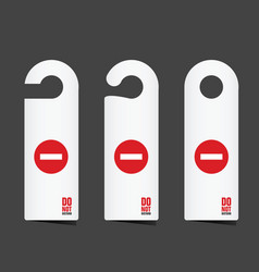 do not disturb tag in white color vector image