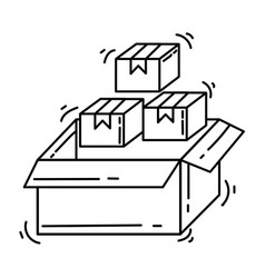 e-commerce icon inventory hand drawn icon set vector image
