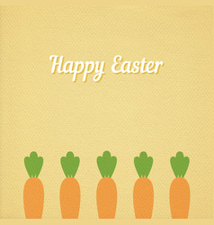 Easter carrots bed vector