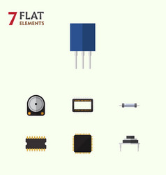 Flat icon appliance set of destination hdd cpu vector