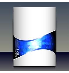 Flyer or brochure cover design - vector image