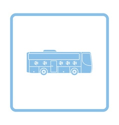 Football fan bus icon vector