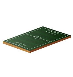 Football field in 3d vector