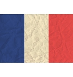 France paper flag vector image