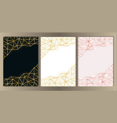 glitter and geometric frame set vector image