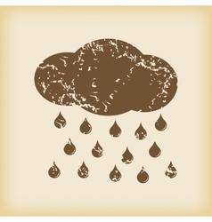 Grungy rain icon vector