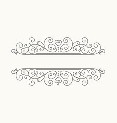 Hand drawn decorative border in retro style vector