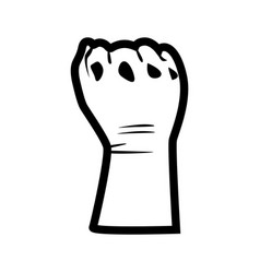 Hand symbol for black lives matter protest in usa vector