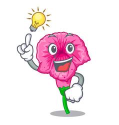 Have an idea petunia in a mascot flower basket vector