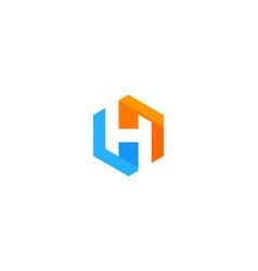 Hexagon letter h logo icon design vector