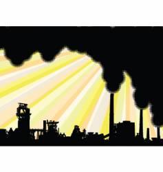 industrial smoke vector image