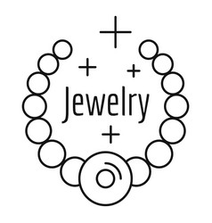 jewelry logo outline style vector image