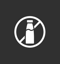lactose free icon vector image