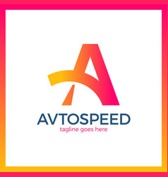 letter a logo - auto speed vector image