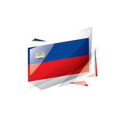 liechtenstein flag on a white vector image
