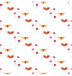 masquerade carnival masks seamless pattern vector image