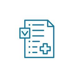 Medication insurance document icon pharmacy vector