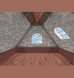 Medieval attic vector