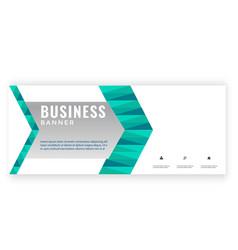 modern green arrow design business banner i vector image