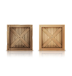 New and aged wooden crate realistic vector