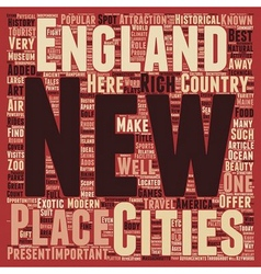 New england travel text background wordcloud vector