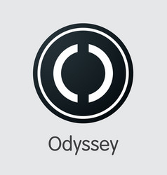 odyssey crypto currency - web icon vector image