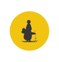 Penguine silhouette icon vector image