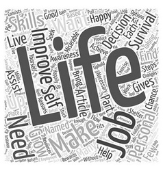 Personal Life Improving to Grow Word Cloud Concept vector image
