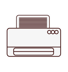 Printer machine icon vector