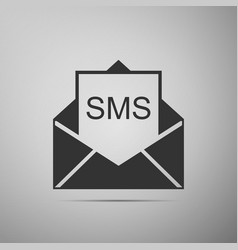 Received message concept envelope with sms vector