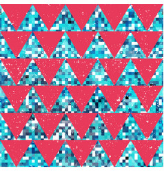 red mosaic triangle pattern vector image