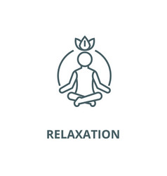 Relaxation line icon linear concept vector