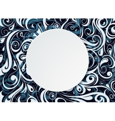 Round copy space banner vector image