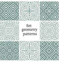 set of ornamental patterns for backgrounds vector image