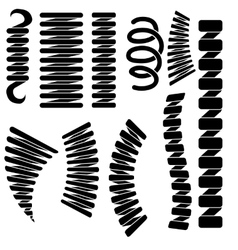Set of springs silhouettes vector