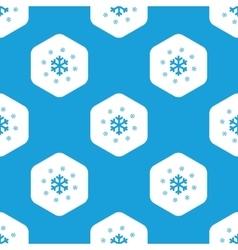 Snowflakes hexagon pattern vector image