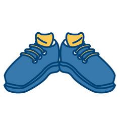 sport sneakers wearfoot vector image vector image